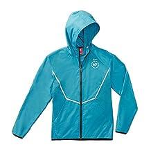 Nike Mens N7 Hybrid Windrunner Full Zip Running Jacket Dark Turquoise Medium