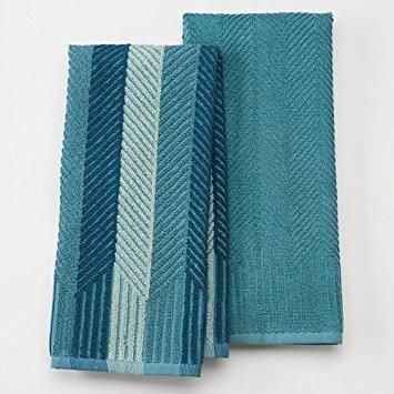 Terry Cloth Food - Food Network 2-pk. Sculpted Antimicrobial Kitchen Towels (Aqua)