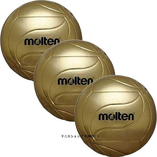 molten(モルテン) フリスタテック 記念ボール 5号 バレーボール 3個セット ゴールド V5M9500-3SET