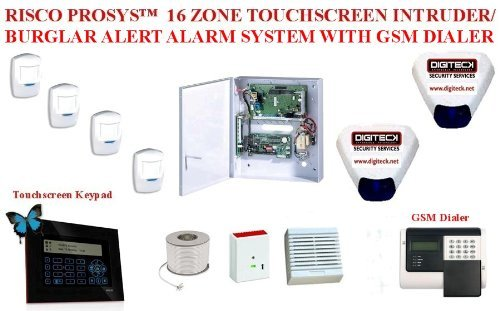 AO6- RISCO PROSYSTM 16 ZONE TOUCHSCREEN BURGLAR ALERT ALARM GSM DIALER SYSTEM