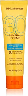 product image for MDSolar Sciences Mineral Crème SPF 30 | Broad Spectrum SPF Enriched with Soothing CoQ10, Vitamins C + E, Oil-Free, Water-Resistant | 3.4 Oz