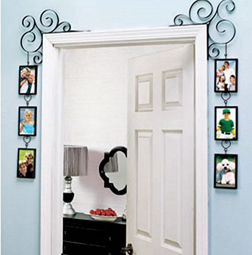 Set of 2 Doorway Corner Photo Picture Frames Home Bedroom (Black) (Door And Frame Sets)