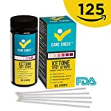 Care Check Ketone Test Strips - Great for Diabetics and Ketogeinc Paleo and Atkins Diet, 125 Urinalysis Strips