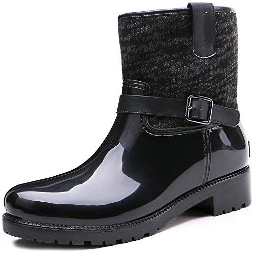 Tongpu Strap Half Waterproof Rubber Women Rain Boot Boot Rain B01MDTOR82 Shoes 9578f0