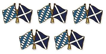 Yantec Flaggenpin 5er Pack Schottland Pin Anstecknadel Fahnenpin