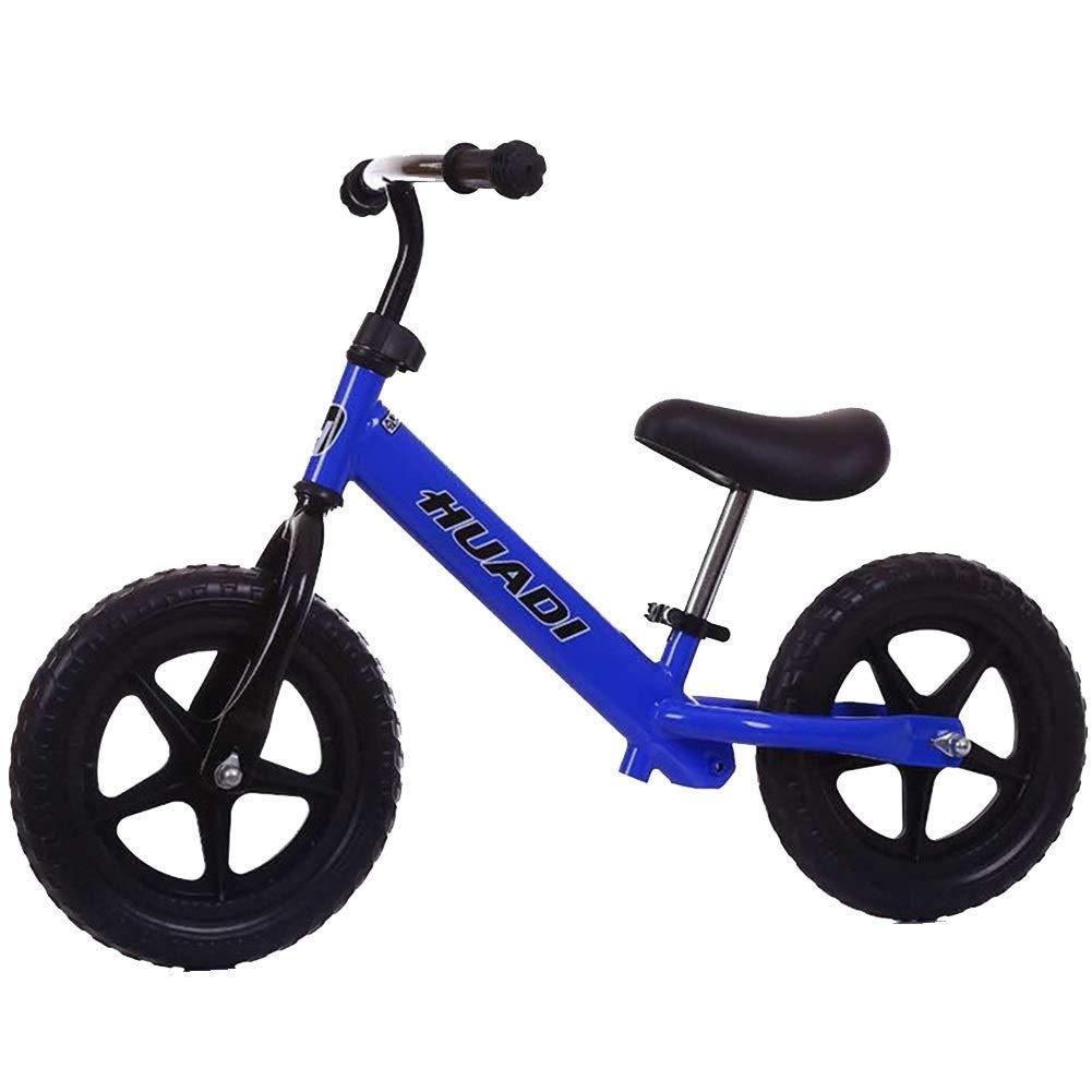 Balance Bike - 2、3、4、5、6歳の男の子用女の子向けペダルキッズスライドカーなし、、、空気入りタイヤ、調節可能な座席、12
