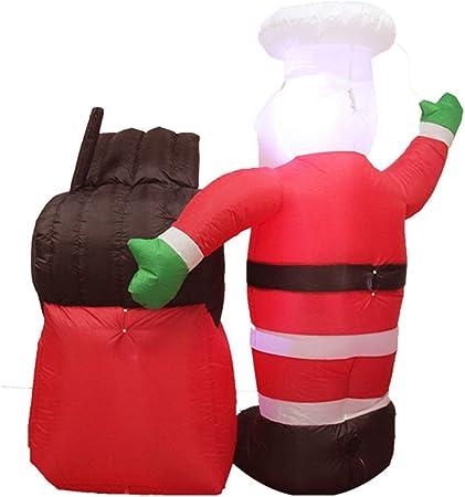 BXWQPP Santa Claus Horno con LED Inflable de Navidad 180cm Alta para la Decoración del Jardín Casero Navidad Fiesta Césped Bar Interior Exterior Decoracion Prop