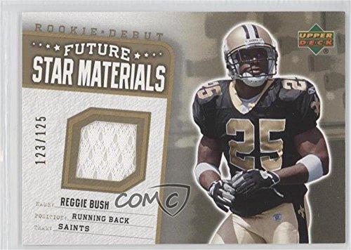 Reggie Bush #123/125 (Football Card) 2006 Upper Deck Rookie Debut - Future Star Materials - Hot Box Gold #FSM-RB