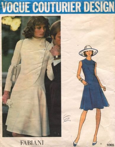 (Vintage VOGUE COUTURIER DESIGN PATTERN #1065 SIZE: 14 ***MISSES' DRESS** A Fabiani Pattern)