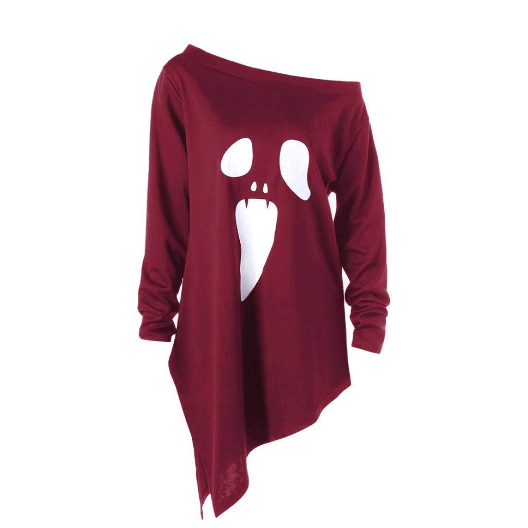 Halloween Sweatshirt Hoodie for Women MITIY Long Sleeve Ghost Print Sweatshirt Pullover Tops Blouse