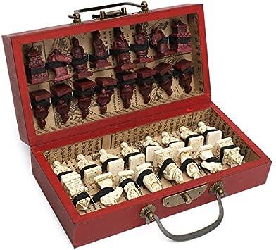 JVSISM Caja de Cuero de Madera China con 32 Piezas de Terracota ...