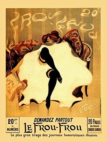 Heritage Posters Lady Le Frou Frou Humour Newspaper Art Deco France French 20