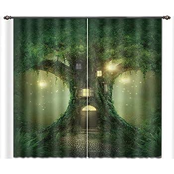 Amazon Com Lb Cherry Flower Window Curtains For Bedroom Living Room