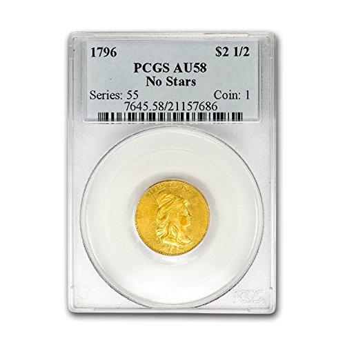 st Quarter Eagle No Stars AU-58 PCGS $2.50 AU-58 PCGS (Gold Quarter Eagle)