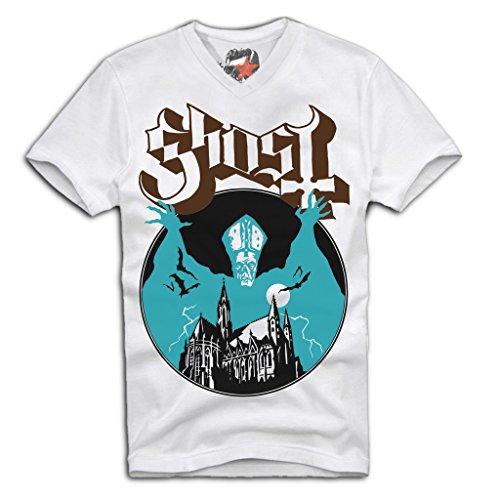 E1SYNDICATE V-Neck T-Shirt Ghost Papa emeritus III Heavy Metal Sz. S-XL -