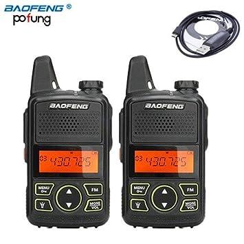 69cb2b8cacb 2pcs Original Baofeng BF-T1 Mini Two Way Radio UHF  Amazon.co.uk   Electronics