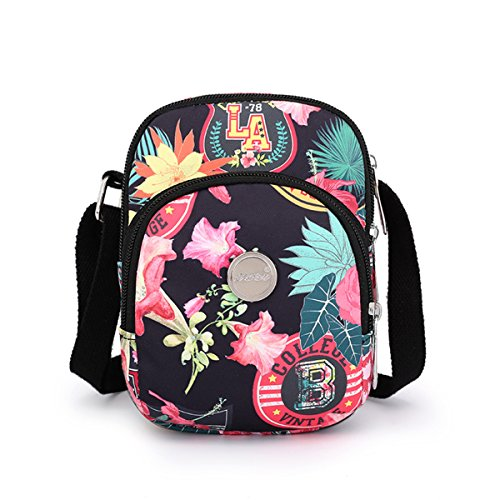 Nawoshow Bag for Shoulder Messenger and Small Bag Peony Crossbody Girls Canvas Bag Women Purse rWzqrxU8Zw