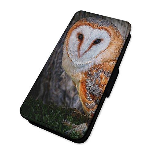 Splendido Barn Owl–Bird of Prey–Custodia ad aletta in pelle cover Apple Iphone 7 Plus