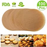 Unbleached Parchment Paper Cookie Baking Sheets,9 inch Premium Brown Parchment Paper Liners for Round Cake Pans Circle,Non-Stick Air Fryer Liners,100 Count