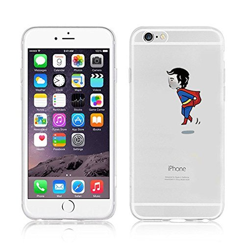 New Marvels Avenger Transparent Clear TPU Soft Case For Apple iPhone 7 Plus SUPERMAN