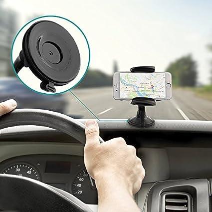 AUKEY Handyhalterung Auto Armaturenbrett Windschutzscheibe 360 Drehbar Kfz Halterung f/ür iPhone XR//XS Max // 8//7 // 7 Plus // 6//6 Plus // 6s Samsung Note 8 // S8 // Galaxy S6 GPS HTC Nokia BlackBerry