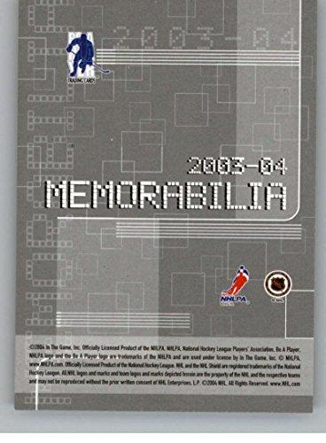 2003-04 Be A Player Memorabilia #201 Cover Card