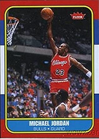 5e9d63e6086 Amazon.com  1986 Fleer Michael Jordan Rookie Reprint from Hall of Fame Box  Set in Mint Condition ! Shipped in Ultra Pro Top Loader to Protect it !