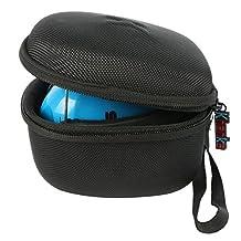 Khanka EVA Carrying Storage Travel Hard Case Cover for Snug Safe n Sound Kids Adjustable Headband Ear Defenders Hearing Protectors Earmuffs Ear Muffs- Black