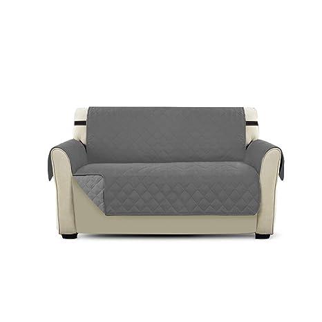 PETCUTE Cubre Sofa Fundas de Sofa para Perros Protector de sofá Dos plazas Gris