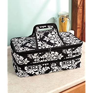 Keep Your Favorite Dishes Ready To Serve At Events And Picnics With A Stylish Expandable Hot/Cold Food Carrier - Damask