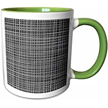 3dRose Anne Marie Baugh - Chalkboard - Contemporary Cute Criss Cross Pattern On A Chalkboard Background - 11oz Two-Tone Green Mug (mug_239991_7)