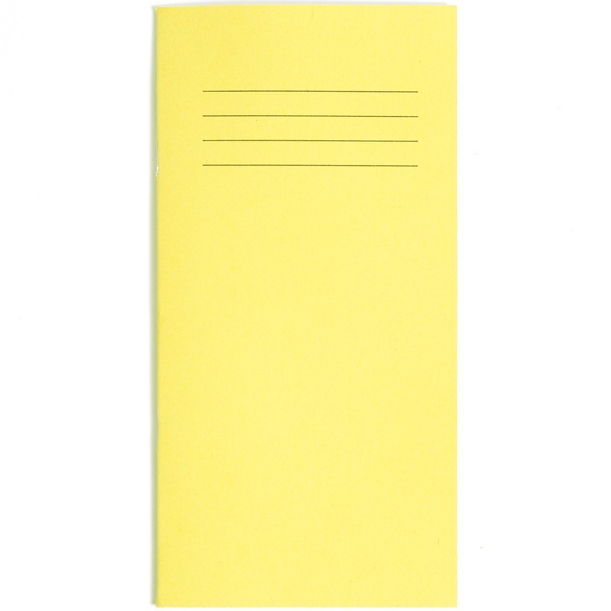 Slim Pocket Vocabulary Notebook - Yellow Cover Spelling Time Table Address Book 32 Pages educational standard 8mm lined -200mm x 100mm - By PARTY DECOR