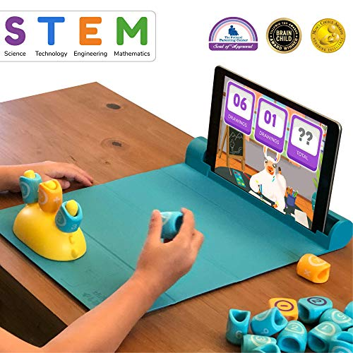 Shifu Plugo Count Math Game with Stories & Puzzles - Augmented Reality STEM Toy | Cool Math Games with Magnetic Blocks for Boys and Girls Ages 4 to 10 Years (iOS/ Samsung Devices)