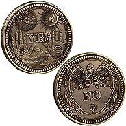 TOYSDONE Yes No Decision Maker Coin - Souvenir Coins - Yes No Coin - The Decision Coin - Metal Coins Collectio