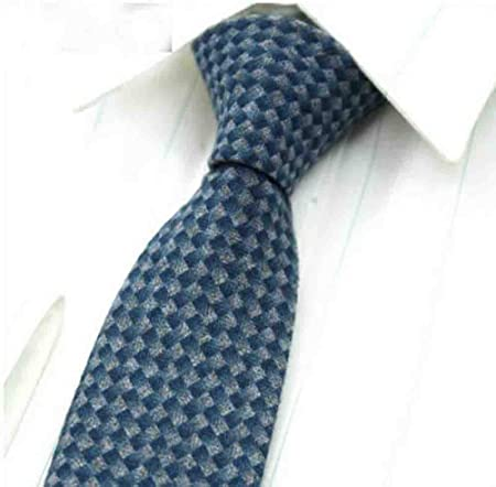 QEHWS Corbata Corbatas para Hombre Skinny Plaid Ties For Men Black ...