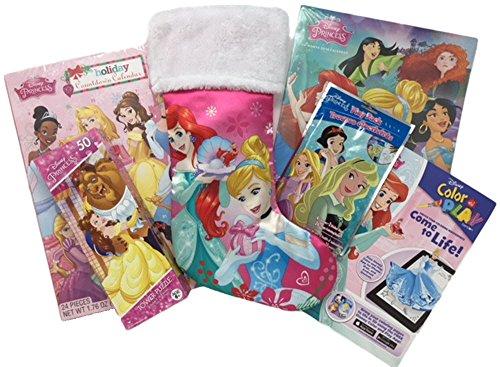 Disney Princess Christmas Stocking Stuffer Bundle Gift Set 7 Pieces