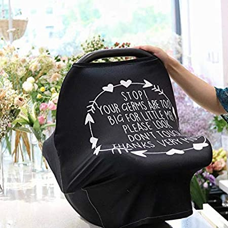Multi-use Car Seat Stroller Breast Feeding Breathable Covers Glomixs Baby Stretchy Nursing Breastfeeding Cover Boys and Girls Shower Gifts Breastfeeding Nursing Covers