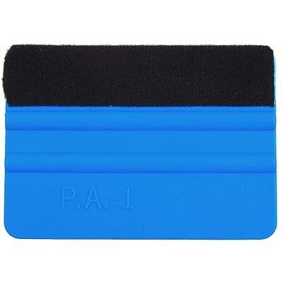 Plastic Felt Edge Squeegee 4 Inch for Car Vinyl Scraper Decal Applicator Tool with Black Felt Edge (1 Pack): Automotive