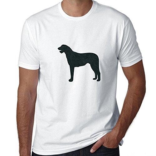 Irish Wolfhound Leash - Hollywood Thread Irish Wolfhound Dog Simple Silhouette 100% Men's Cotton T-Shirt
