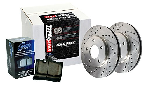 StopTech 928.40014 Select Sport Axle Pack (Drilled & Slotted, Front), 2 ()