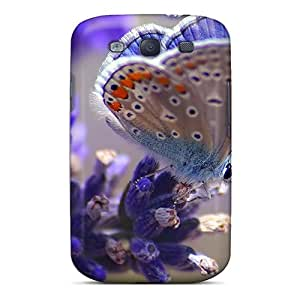 Protector Hard Phone Cover For Samsung Galaxy S3 (aFz9954pfLt) Customized Beautiful Butterfly Pattern