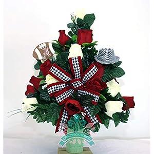 Alabama Crimson Tide Fan Cemetery Vase Arrangement 41
