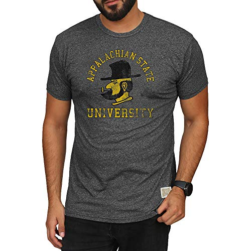 Elite Fan Shop Appalachian State Mountaineers Retro Tshirt Charcoal - X-Large (Best Clothing App For Men)