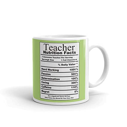 Family Shoping Teachers Day Gifts Birthday GiftsTeacher Nutritions Fact Coffee Cup Tea Mug