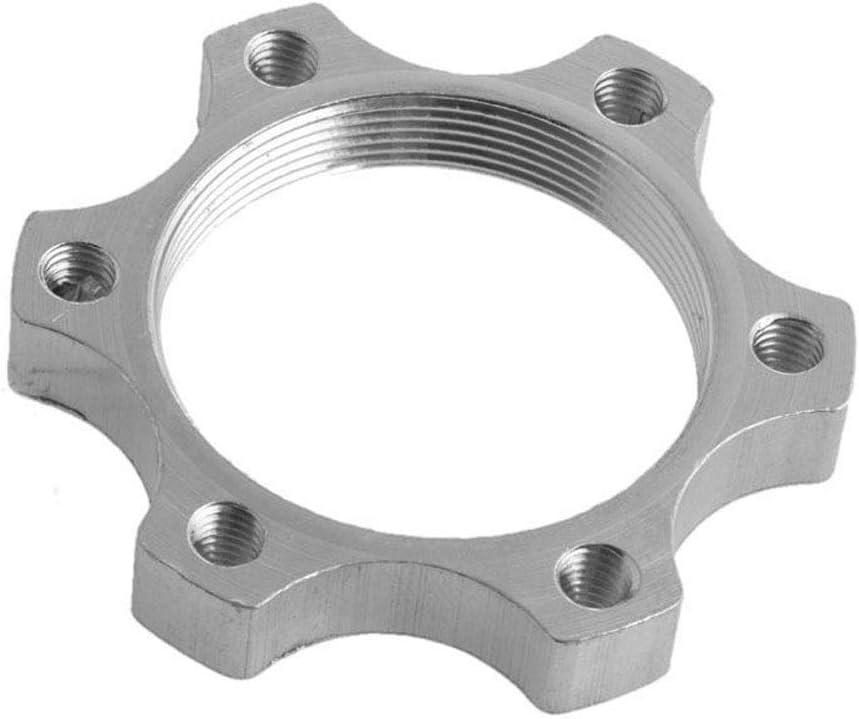 bujes roscados Disco roscado para bujes de Bicicleta de Carretera de Aluminio Rotor de Freno de Disco periwinkLuQ Adaptador de Brida de 6 Pernos