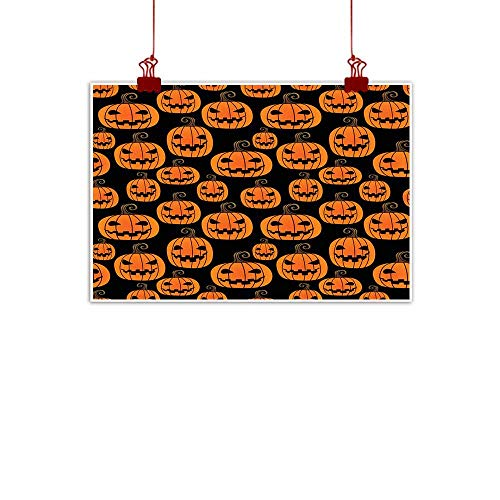 Mannwarehouse Simulation Oil Painting Halloween Pumpkin Seamless Pattern Decorative Painted Sofa Background Wall 24