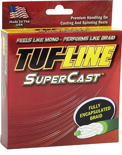Tuf-Line SuperCast 100-Yard Braided Fishing Line, Green, 12-Pound