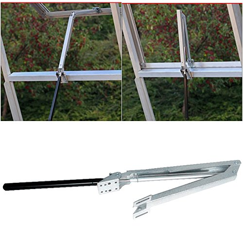 Sumnacon Solar Heat Sensitive Automatic Greenhouse Vent Opener Auto Vent Kit, Lifts 15 Lbs