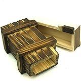 Magische Geschenkbox, Trickkiste für Geldgeschenke,Magic Box, Schatzkiste, Geschenkverpackung, klein, Holzspiel, Denkspiel, Knobelspiel, Geduldspiel aus Holz (Einzel offen)