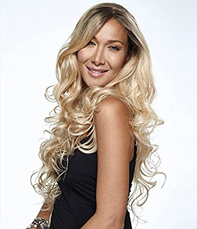 Amazon.com : UniWigs Machine Made Cap Body Wave Wig Heat Resistent Synthetic Fiber Ombre Black to Blonde Wig : Beauty